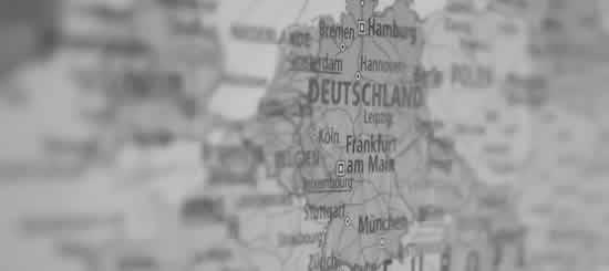 Landkarte mit Tätigkeitsregionen als externer Datenschutzbeauftragter