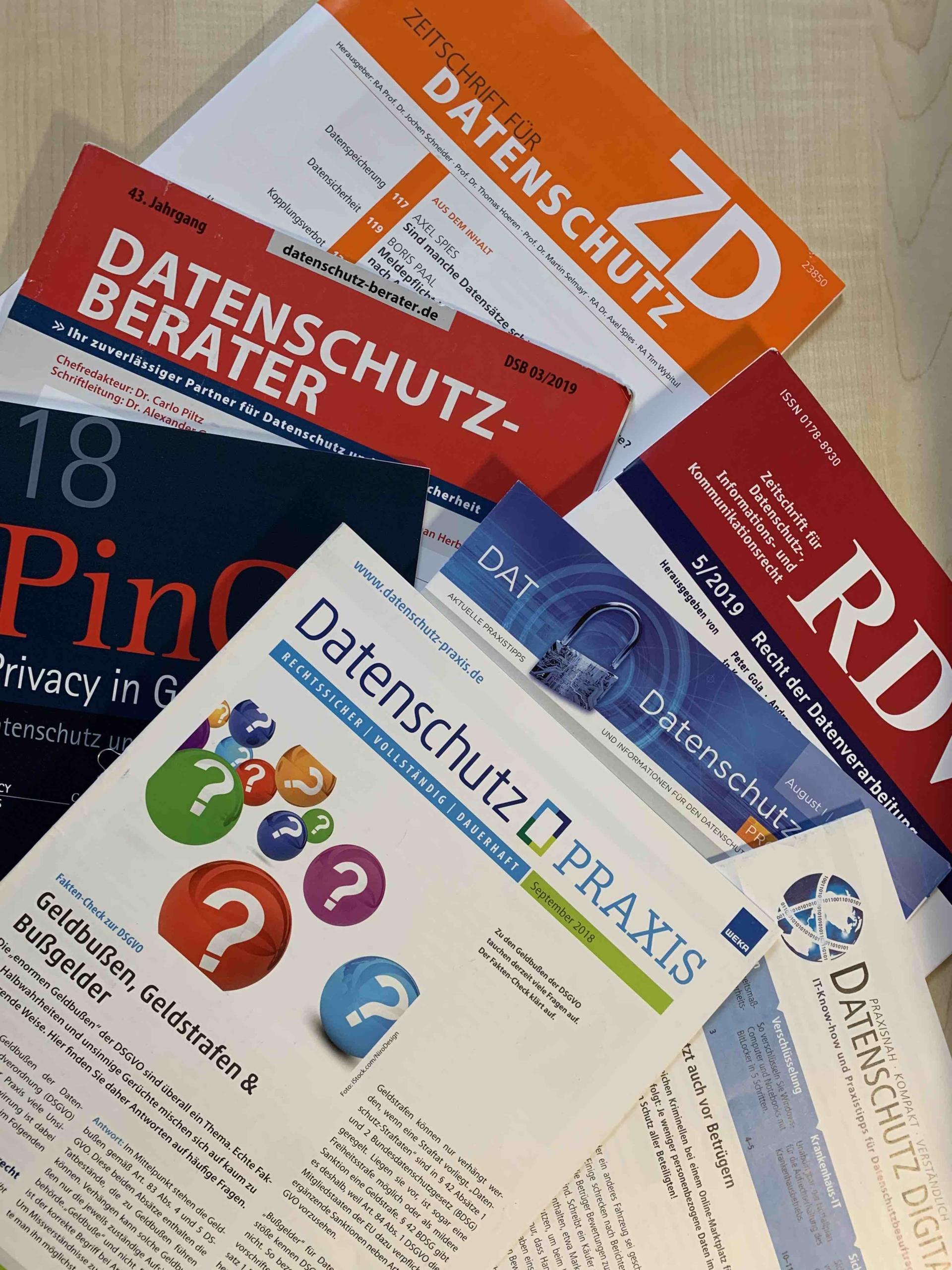 Zeitschriften mit dem Schwerpunkt Datenschutz