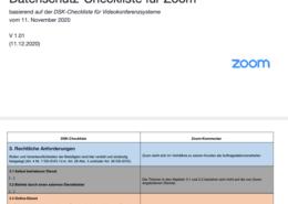 Checkliste für datenschutzkonformes Zoom