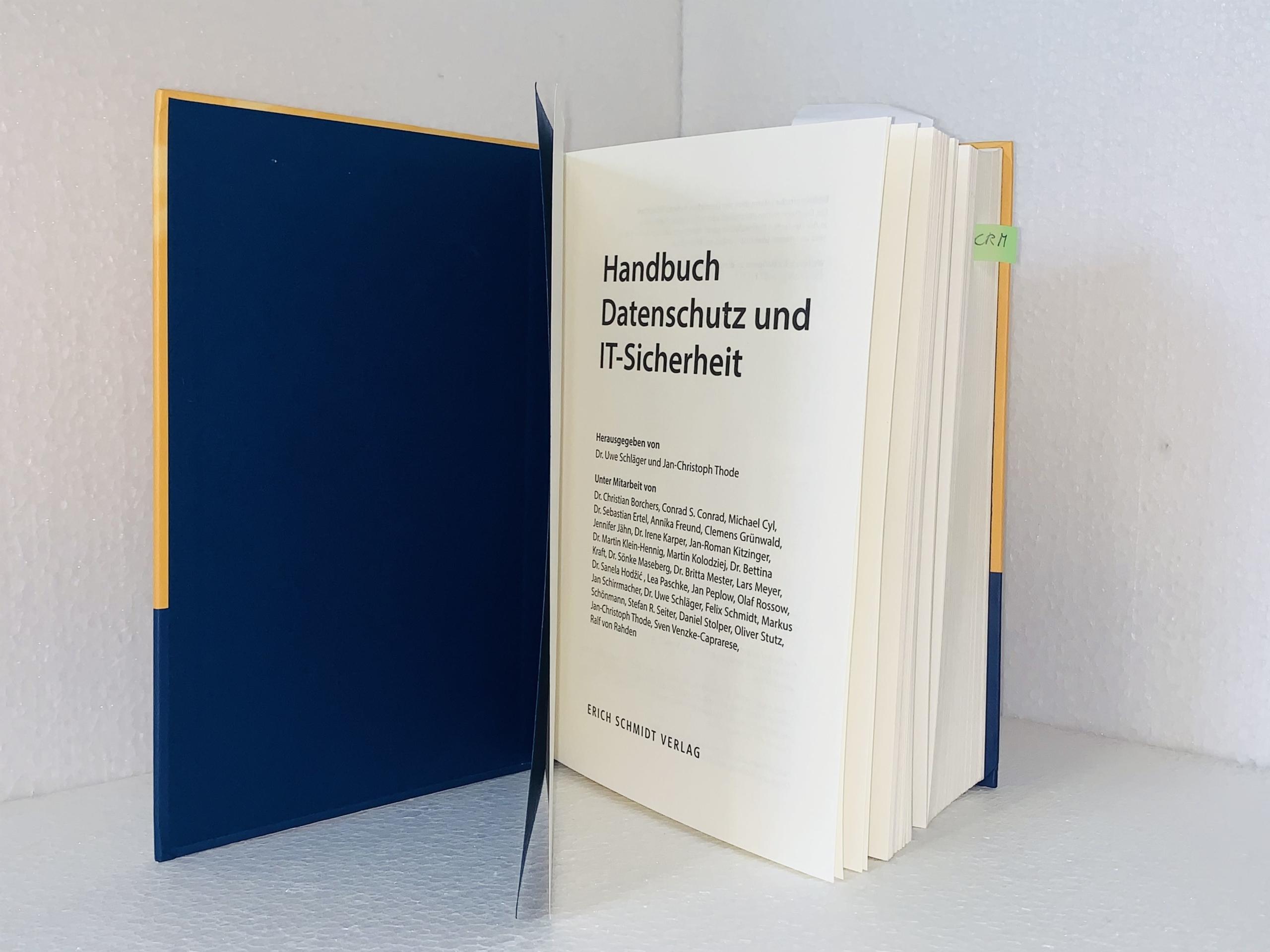 Handbuch Datenschutz und IT-Sicherheit Inhalt